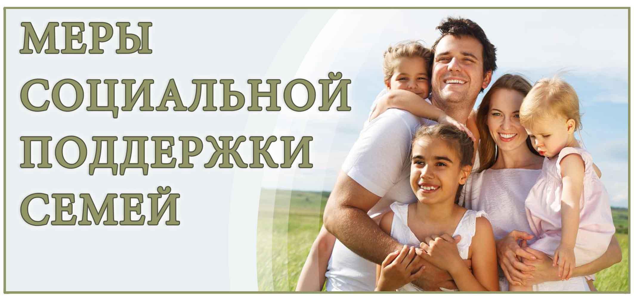 Меры социальной поддержки семей
